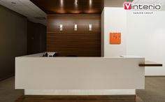 reception desk: could work as an entertainment area as well
