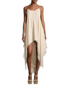 Wild Heart High-Low Maxi Dress, White