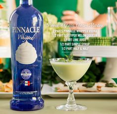 Leave guests feeling lucky with the #Pinnacle Green Cream Martini. #StPaddysDay #StPaddys #GreenCocktails #Cocktails #PinnacleVodka