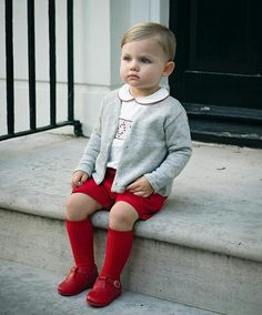 36 Adorable Christmas Outfits Ideas For Kids To Try Asap - The Christmas season is upon us and it's time to get the girl's red dresses on and the Christmas dress-ups out for family pictures and greeting cards. Little Boy Fashion, Baby Boy Fashion, Toddler Fashion, Kids Fashion, Baby Boy Outfits, Kids Outfits, Boys Christmas Outfits, Vintage Baby Boys, Baby Kids Clothes