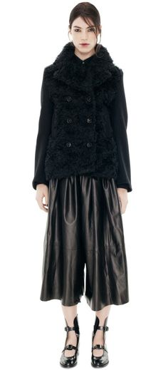 Acne Studios Edge - Faux Fur Black Noir