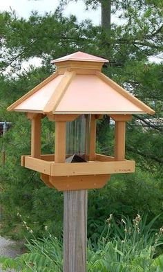 Woodlink Large Coppertop Gazebo Bird Feeder