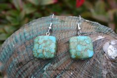 Mosaic Turquoise Earrings  Native American by TwoFeathersJewelry, $10.00