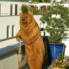 Holzskulptur Georg In Eiche