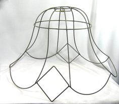 Huge scalloped lampshade frame vintage wire victorian lamp shade huge scalloped lampshade frame vintage wire victorian lamp shade awesome pinterest vintage victorian and victorian lamp shades greentooth Gallery