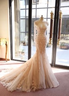 Cheap dress modal, Buy Quality dress cross-stitch directly from China wedding dress with lace Suppliers: Two Piece Fairy Sexy Mermaid Wedding Dress 2017 Court Train Fancy Flowers Wedding Dresses vestido de noiva Long robe de soiree Lace Mermaid Wedding Dress, Mermaid Gown, White Wedding Dresses, Bridal Dresses, Bridesmaid Dresses, Gown Wedding, Formal Wedding, Couture Dresses, Lace Wedding