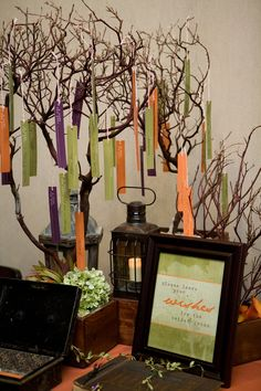wish tree for the bride and groom // photo by Rachel Thurston // design by Amorology