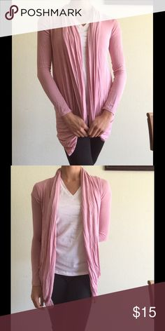 Ballet Pink Cardigan Ballet Pink Cardigan97% Rayon, 3% Spandex 2 Front Pockets Barely used, and in great conditionStretchy Sweaters Cardigans