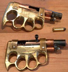 pistola manopla hecha en Mexico.