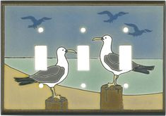 Seagull Ceramic Light Switch Plates, Outlet Covers, Wallplates