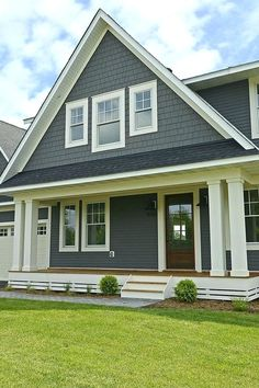 ideas exterior paint colors for house trim benjamin moore Exterior Paint Colors For House, Paint Colors For Home, House Siding Colors, Grey Siding House, Siding Colors For Houses, Exterior Siding Colors, Stucco Colors, Exterior Shutters, Exterior Stairs