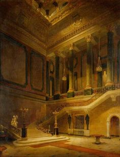 David Roberts (1796–1864), The Great Staircase, Stafford House, 1832 (