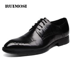 Good price RUIMOSI Elegant Pointed Toe Derby Man Oxfords Genuine Leather Formal Dress Shoes Busuness Wedding Party Office Men's Flats NH80 just only $89.00 with free shipping worldwide  #menshoes Plese click on picture to see our special price for you