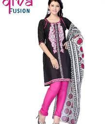 Buy Party wear cotton designer salwar suit semi-stitched-salwar-suit online