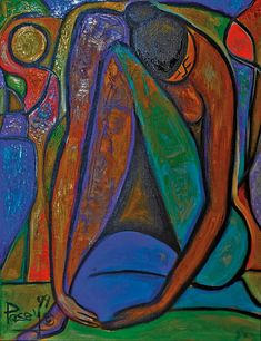 """""""The Dancer"""" by Marvin Posey, Acrylic on canvas"""