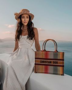 "Tamara Kalinic on Instagram: ""Loving the island life✨ Total @dior look in Santorini"" Island Life, Santorini, That Look, Dior, Greece, Pizza, Italy, Vintage, Instagram"