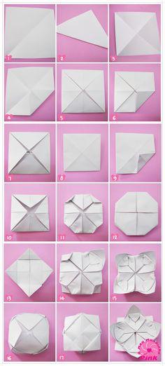 Resultado de imagem para origami de flor de lotus