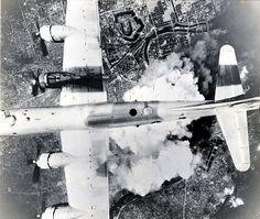"""B-29 """"Incendiary Journey""""  """"Incendiary Journey"""" #7  Boeing B-29A-45-BN Superfortress  s/n 44-61784  24th Bomb Squadron, 6th Bomb Group, 313th Bomb Wing, 20th Air Force. (U.S. Air Force photo)  June 1,1945 mission to Osaka,Japan."""