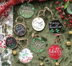 Items similar to Personalized Christmas Ornament, Wood Christmas Ornaments, Wood Slice Ornament, Wood Slice Christmas Ornament, Custom Christmas Ornament on Etsy Custom Christmas Ornaments, Wood Ornaments, Christmas Tree Decorations, Christmas Crafts, Family Ornament, Resin Crafts, Diy Crafts, Holiday Crafts, Holiday Decor