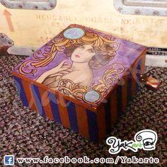 Vintage  handmade box Yakarte Caja Mágica pintada a mano www.facebook.com/Yakarte