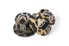 "BAPE's ""1ST CAMO SHARK"" Bucket Hats https://thedropnyc.com/2017/05/17/bapes-1st-camo-shark-bucket-hats/?utm_content=buffer40ab1&utm_medium=social&utm_source=pinterest.com&utm_campaign=buffer"