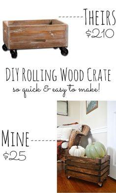 DIY rolling wood cra