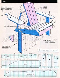 Classic Adirondack Chair Plans - Outdoor Furniture Plans and Projects - Woodwork, Woodworking, Woodworking Plans, Woodworking Projects Adirondack Chair Plans Free, Adirondack Furniture, Outdoor Furniture Plans, Rustic Furniture, Adirondack Chairs, Funky Furniture, Plywood Furniture, Furniture Design, Woodworking Projects Diy