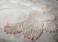 Crochet Lace Ravelry: Twinity Shawl pattern by Anne-Lise Maigaard - Another Niebling-inspired Nightmare before Xmas for you, lol! Lace Knitting, Knitting Stitches, Knitting Patterns, Crochet Patterns, Finger Knitting, Knitting Machine, Crochet Ideas, Knitted Shawls, Crochet Shawl