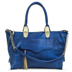 Women's Tote Handbag with Chain Cross body Strap - Blue #Mossimo #Accessorybags
