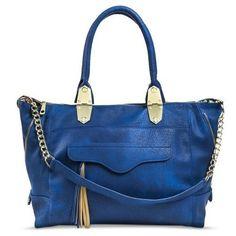 Women's Tote Handbag with Chain Cross body Strap - Blue #Mossimo #Accessorybags