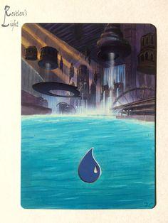 Island - Full Art Land - MTG Alter - Revelen's Light Altered Art Magic Card…