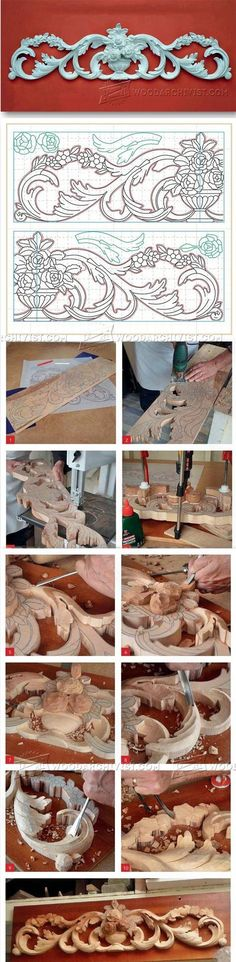 Carving Cresting - Wood Carving Patterns and Techniques | WoodArchivist.com