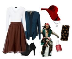 """""""Favorite Non-animated: Pirates of the Caribbean"""" by madalynkw on Polyvore featuring Bling Jewelry, White Stuff, Joseph, Carolina Herrera, Casetify and Essie"""