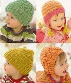 Cappellini e cuffiette a maglia per neonati