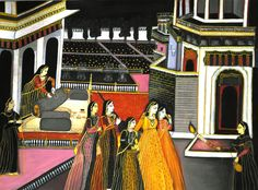 buy mughal miniature painting by indian artist- the original artwork by artist Sreya Gupta, exclusively available at MivaArts only. Check price, images and description online. Mughal Miniature Paintings, Original Artwork, Original Paintings, Indian Artist, Indian Paintings, Paper Dimensions, Selling Art, Online Art Gallery, Modern Art