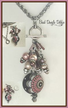Beautiful Interchangeable Beaded Pendant Necklace. Start Your Collection Today! Attach Your Dangle To Chains Available on Website. Many Different Style Chains to Choose From Only at Bead Dangle Design.