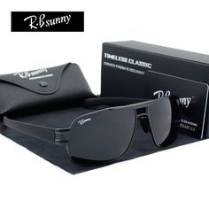HD high-end business classic polarized sunglasses Men fashion brand UV400 goggles Driving business casual choice for R.Bsunny