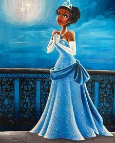"Tiana from ""The Princess and the Frog"" - Art by Max Stephen (maxxstephen on…"