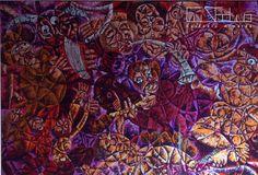 "Pintura "" Guerra , Sexo e Música "" - 2004 Óleo sobe tela 230x160 cm | Autor: Custódio Almeida / 70 000€"