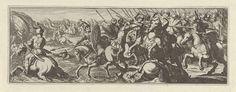 Simon Frisius | Veldslag bij een rivier, Simon Frisius, 1595 - 1628 | Cavaleristen strijden tegen elkaar bij een rivier.