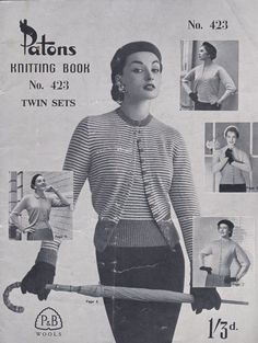 Paton's Knitting Pattern No 423 Women/Ladies by jennylouvintage