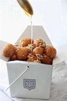 Loukoumades - The Greek doghnuts poured with honey