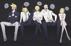 Vinsmoke family, Reiju , Ichiji , Niji , Sanji , Yonji
