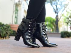 I'm all about elevated combat boots this season! These lace up studded beauties fit the bill perfectly!
