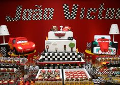 birthday party,cars theme birthday party,boys birthday party,cars,pixar cars birthday decorations,cars birthday decorations,pixar birthday cake,car birthday cake,car dessert table,birthday cake,party planning,hosting a birthday party,truffle wrappers,