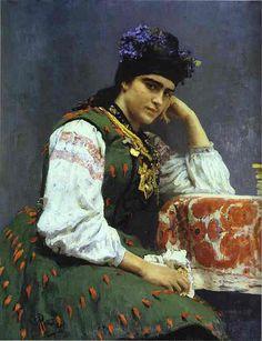 Repin, Ilya (1844-1930) - 1889 Portrait of Sophia Dragomirova (Russian Museum)                                                                                                                                                           Repin, Ilya (1844..
