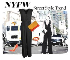 """""""NYFW: Street style"""" by monaline ❤ liked on Polyvore featuring Designers Remix and Jimmy Choo"""