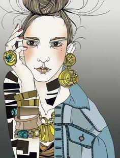 Fashion Illustration -  by Liselotte Watkins - monstylepin