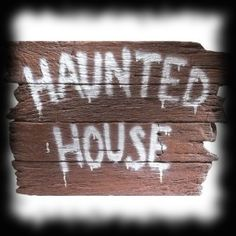 Spooky Abandoned Haunted House Sign Halloween Party