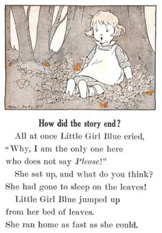 But everywhere she went she heard the Please Song - Little Girl Blue by Emma Miller Bolenius, 1930